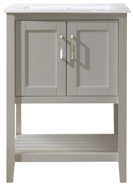 "Atticus Single-Sink Vanity, Gray, 24""."
