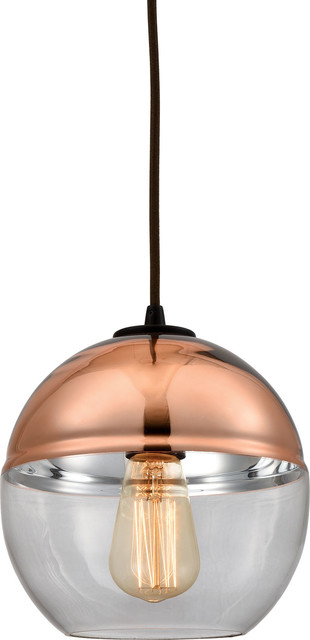 Revelo 1-Light Pendant, Oil Rubbed Bronze.