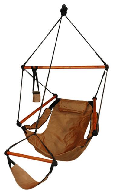 Superieur Hammaka Outdoor Hanging Hammock Air Chair, Wooden Dowels, Natural Tan