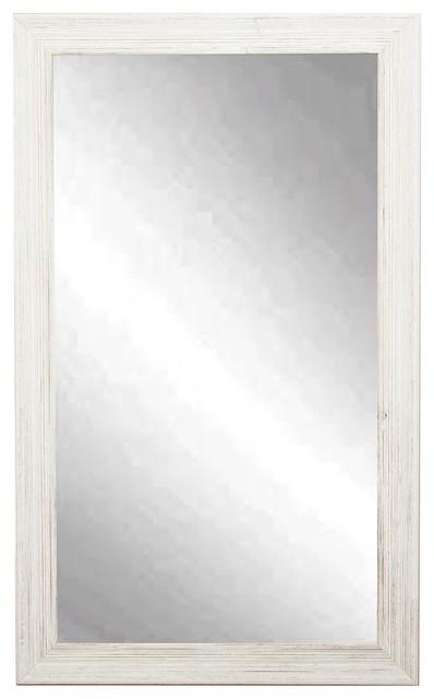 "Coastal Wall Mirrors brandtworks coastal whitewood wall mirror, 21.5""x31.5"" - beach"