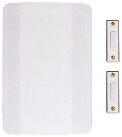 Nicor Two Door Lighted Door Bell Chime Kit Contemporary