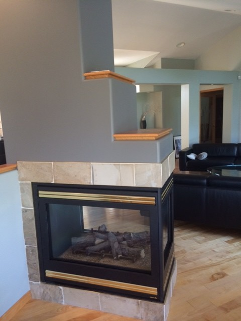3 Sided Fireplace Tile Help