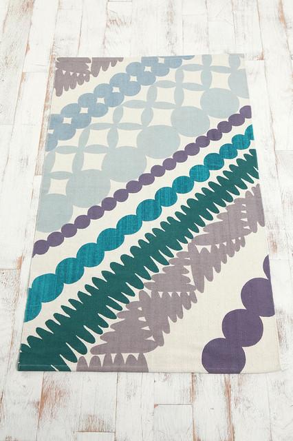 Bead Silhouette Printed Rug