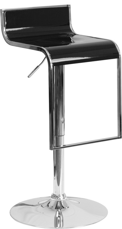 Miraculous Plastic Adjustable Height Barstool With Chrome Drop Frame Black Caraccident5 Cool Chair Designs And Ideas Caraccident5Info