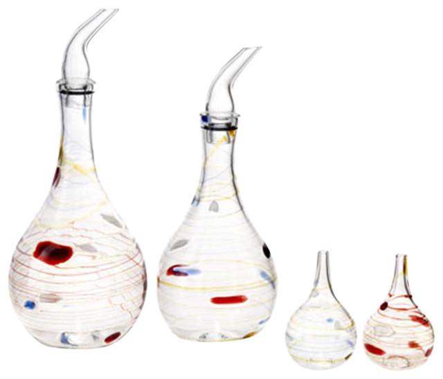 Olio Glass Oil Dispenser, Set of 4