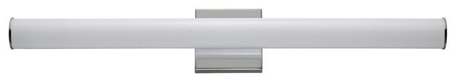 """Rail LED 30"""" Bath Vanity in Polished Chrome"""