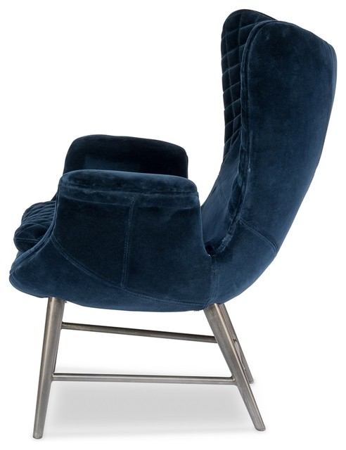 Amazing Wings Chair Blue Velvet Contemporary Gmtry Best Dining Table And Chair Ideas Images Gmtryco
