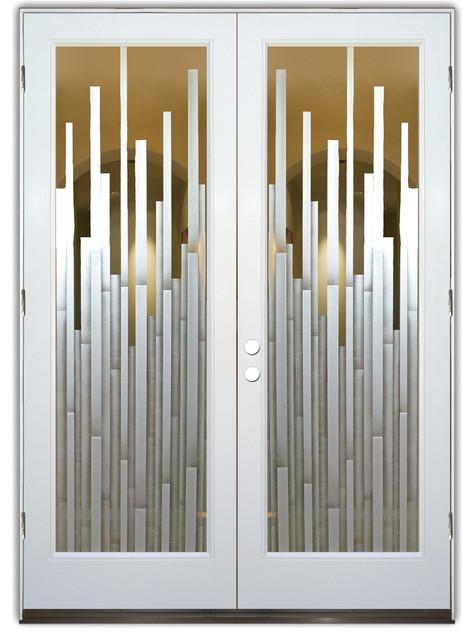 Glass front entry door sans soucie art glass mosaics 3d modern front
