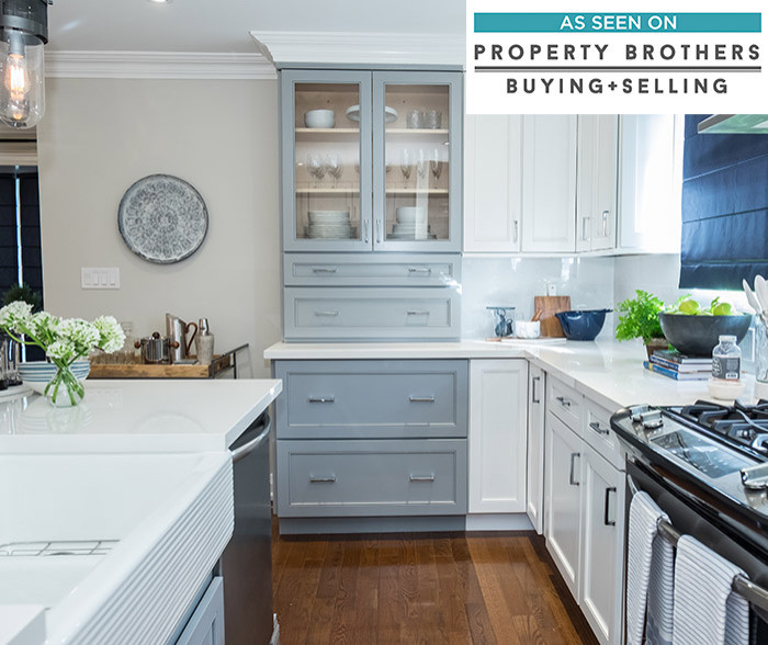 Leeton Cabinets with White Finish - Diamond Cabinetry
