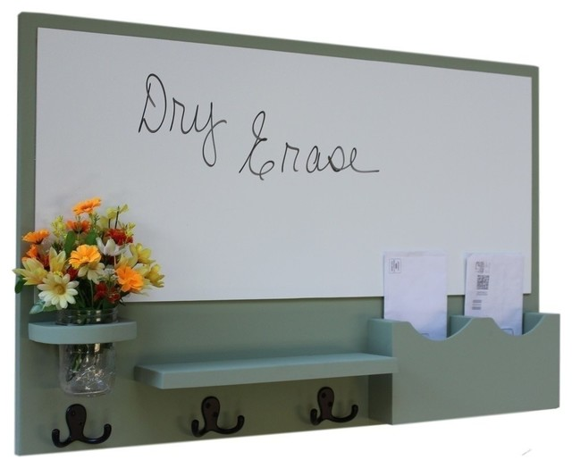 Mail Organizer With Whiteboard Coat Hookason Jar Gray Smooth