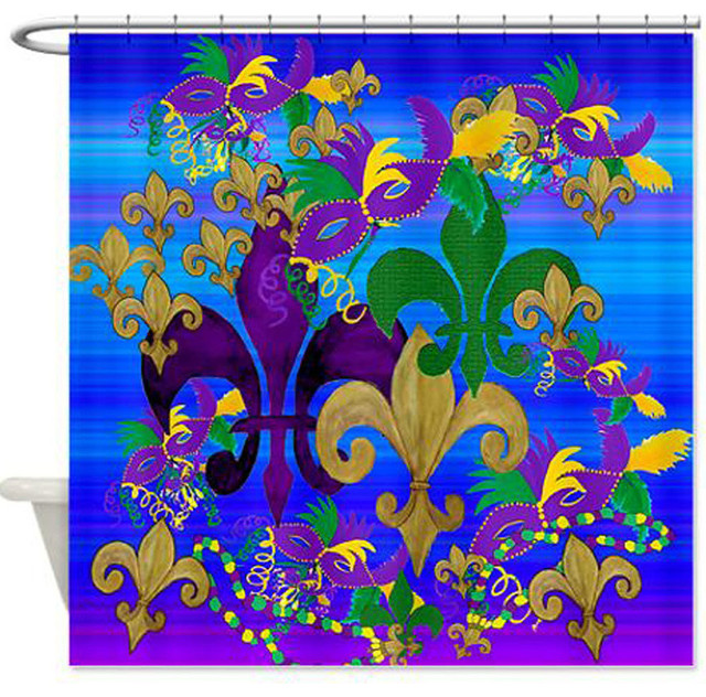 Phycadelic Mardi Gras Shower Curtain