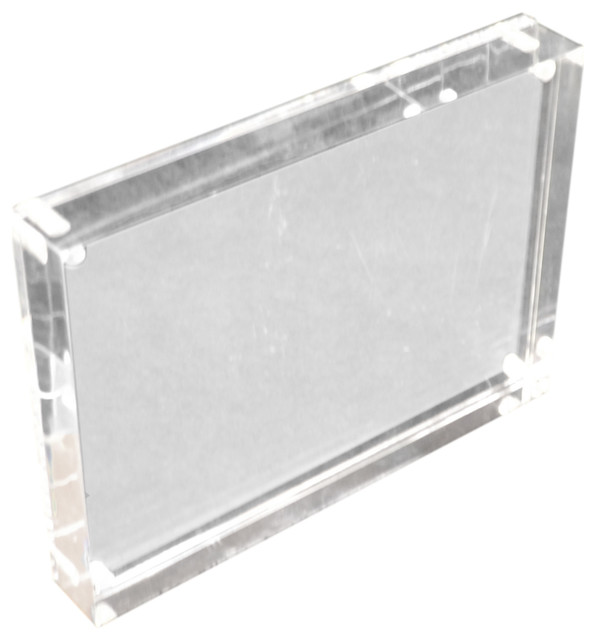 Clear Block Frame Contemporary Picture Frames By R16 Home