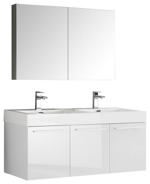 Fresca Vista Wall Hung Modern Bathroom Vanity With ...