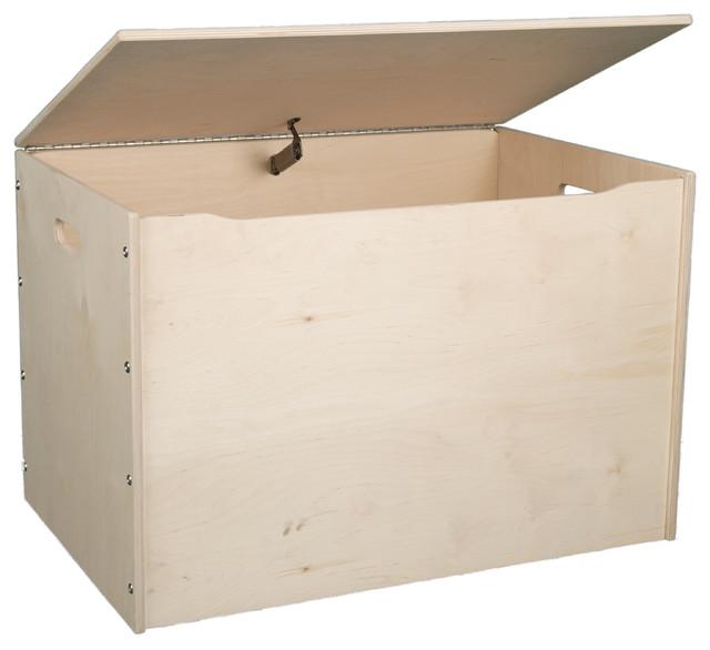 Big Toy Box Lavender Contemporary Kids Storage