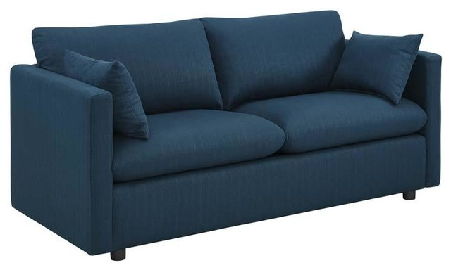 Marvelous Melrose Upholstered Fabric Sofa Azure Pabps2019 Chair Design Images Pabps2019Com