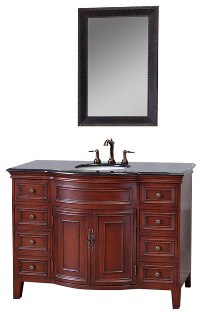 Bathroom Vanity Lights Black Finish : Bellaterra 48