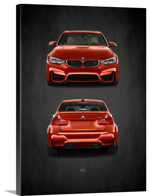 """Red BMW M3 Mini Poster 24/"""" x 16/"""""""