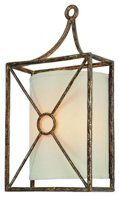 Maidstone Wall Sconce Bronze Leaf