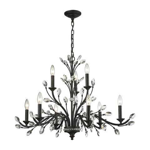 Would This Elk Crystal Branch Fixture Work In My Dining Room 12x16 12 Foot Cathedral Ceiling Table 42x87 It Is 33Wx33LX23H Or Too Busy Looking