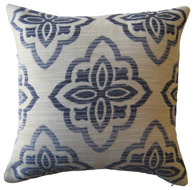 Chenille Texture Medallion Pillow - Contemporary - Decorative Pillows - by KH Window Fashions, Inc.