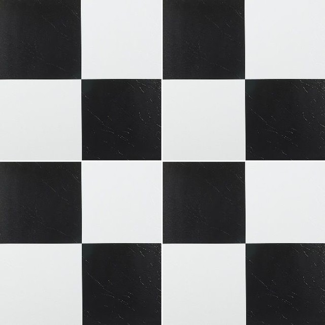 X Peel And Stick Tile BlackWhite Checkerboard Pieces - Black and white square vinyl flooring