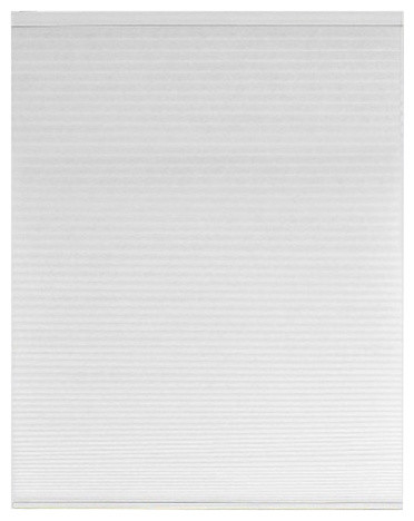 "Honeycomb Pleated Cordless Window Shades, Set Of 2, White, 27""."