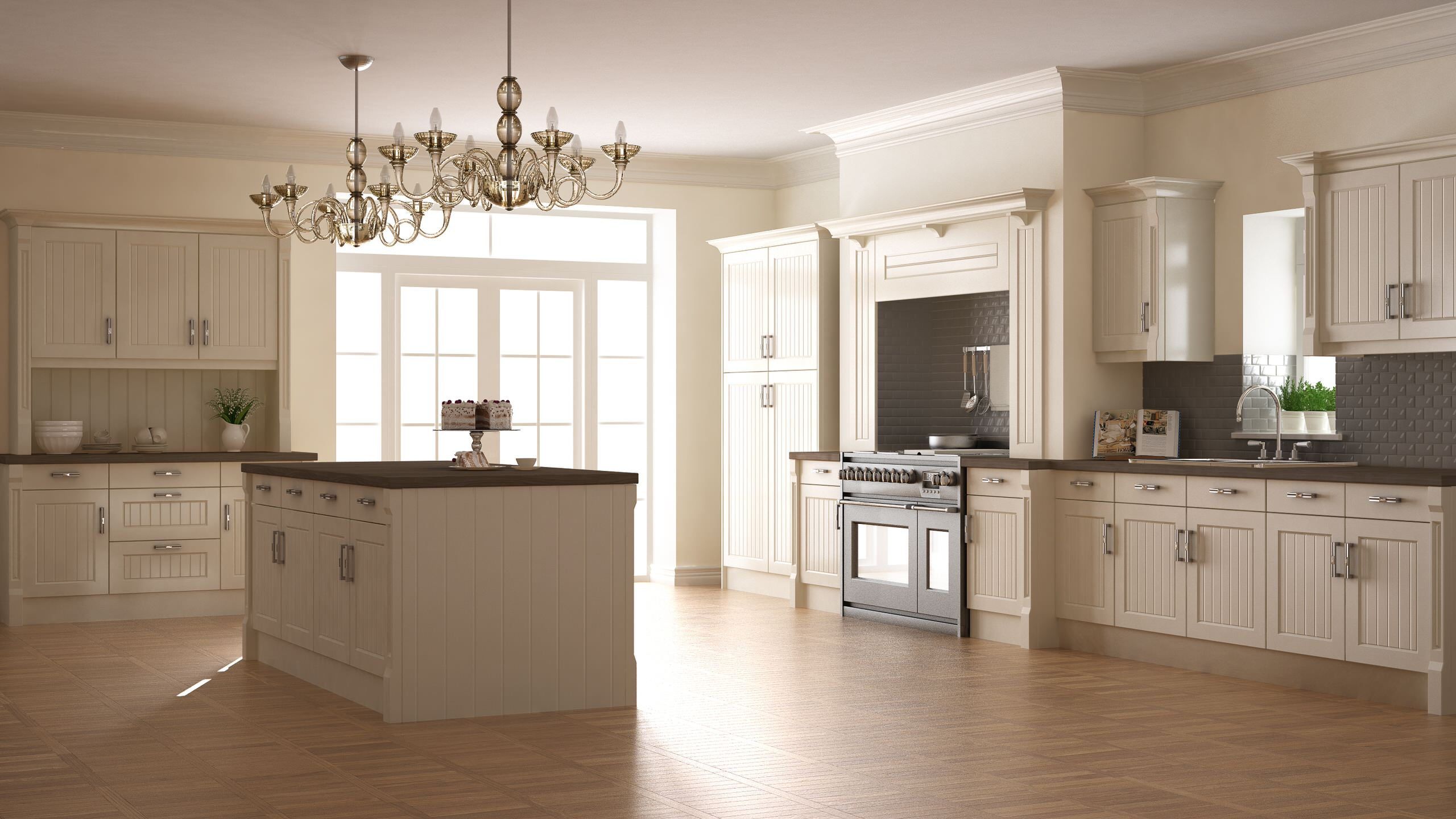 Large elegant country kitchen, with space to entertain