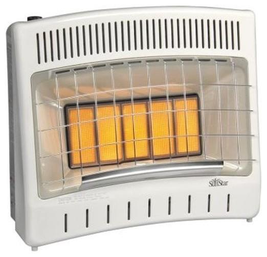 manual control btu infrared radiant liquid propane gas vent free heater modernspace - Propane Space Heater