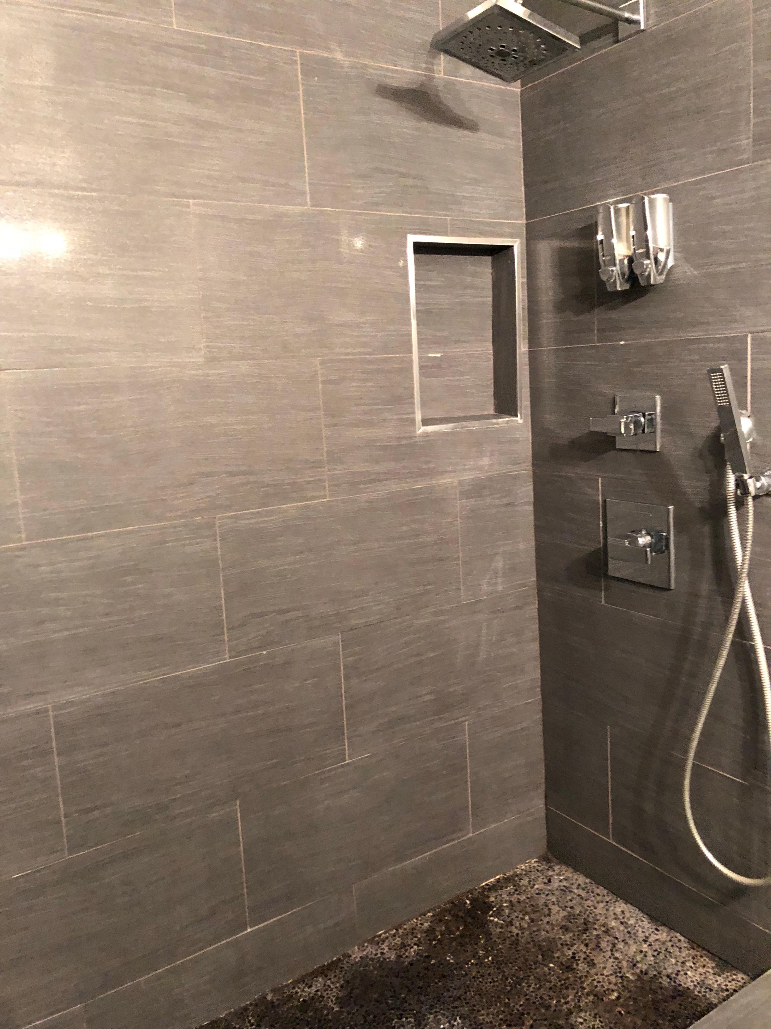Gray Stone transitional bathroom