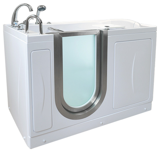 Royal Microbubble Walk-In Bathtub, Left Drain, With Roman Fast-Fill Faucet.