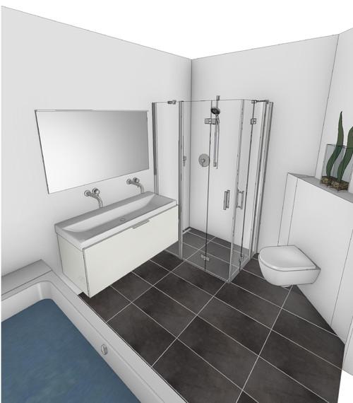 fliesen ideen zur anordnung im bad. Black Bedroom Furniture Sets. Home Design Ideas