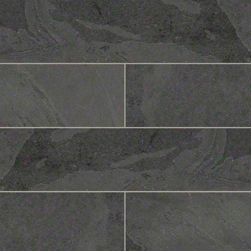 Gauged Montauk Black Slate Tile Traditional Wall And Floor Tile - 8x8 slate tile