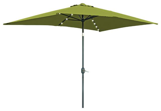 rectangular solar powered led lighted patio umbrella 10. Black Bedroom Furniture Sets. Home Design Ideas