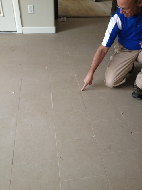 The Builder And Tile Installer Said With Square Edged You Cannot Expect A Flat Floor Is This True It Looks Awful See Picture