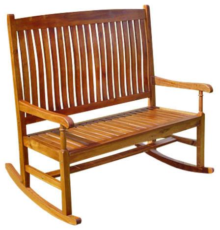caravan tusla porch rocker brown outdoor rocking chairs