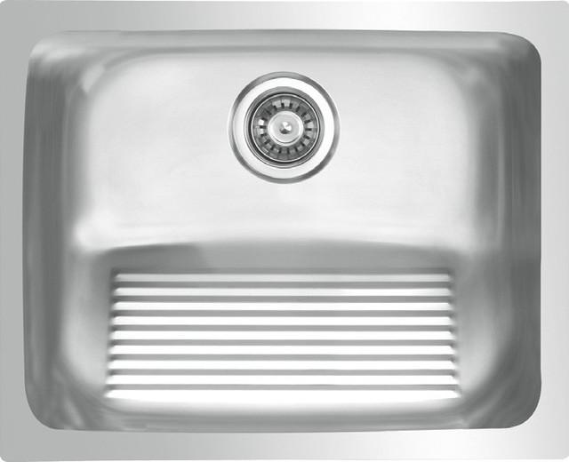 Waterloo   Waterloo 18 Gauge Stainless Steel Undermount Medium Single Bowl Laundry  Sink   Utility Sinks