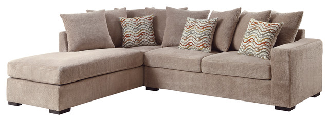 Coaster Brown Fabric Sectional.