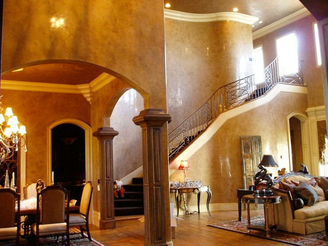 Venetian Plaster Traditional Dining Room Dallas By