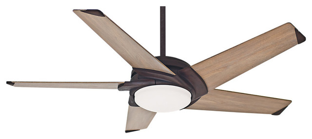 Casablanca 54 Stealth Industrial Rust Ceiling Fan With Light And Wall Control.