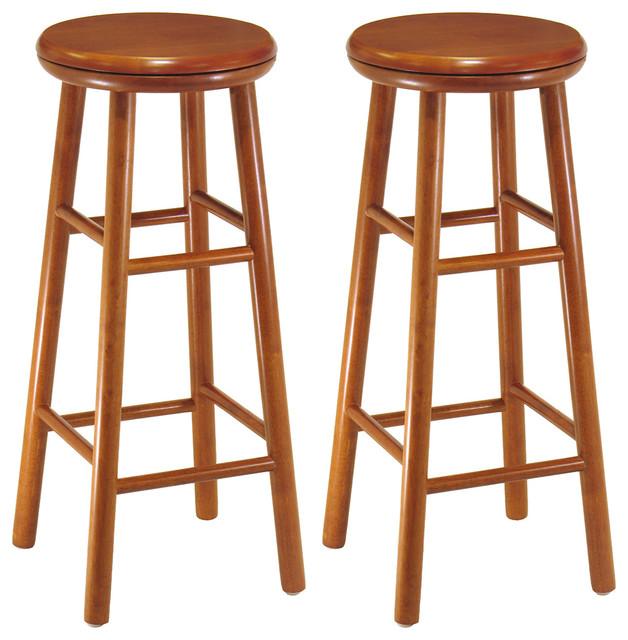 Oakley 2 Pc 30 Quot Swivel Seat Bar Stool Set Cherry Bar