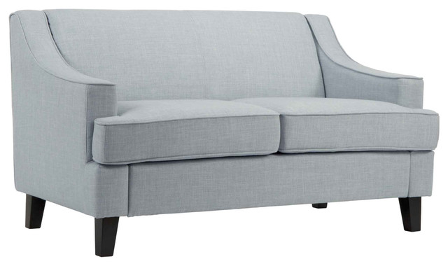 Traditional Linen Love Seats, Hazy Blue.
