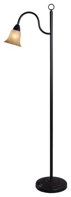 Cal Lighting Bo-2077fl Andros 1 Light Pedestal Base Floor Lamp