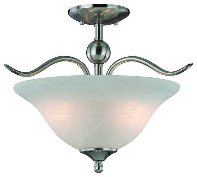 hardware house 2 light dover semi flush ceiling light flush mount ceiling lighting houzz. Black Bedroom Furniture Sets. Home Design Ideas