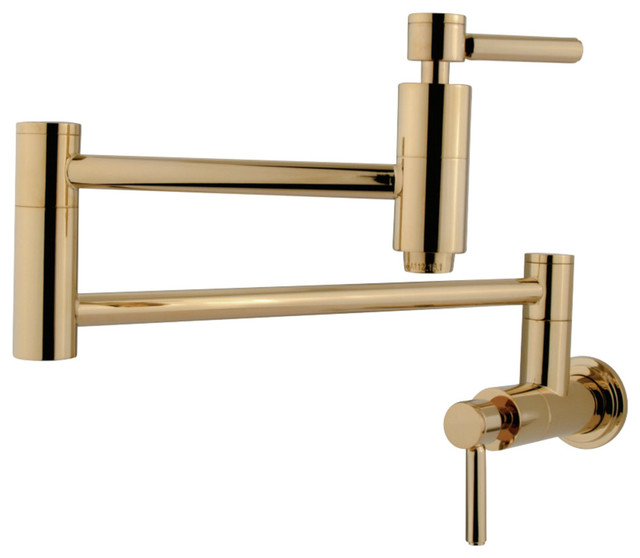 Kingston Brass Concord Pot Filler Faucet, Polished Brass