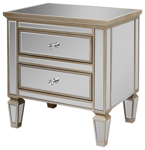 Abbyson Living Omni Mirrored 2-Drawer Chest