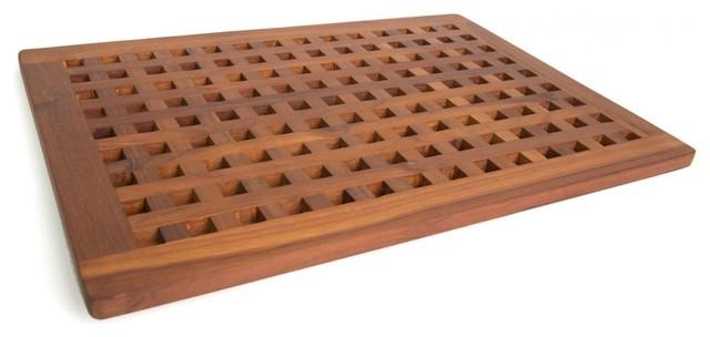 teak bath and shower mat - Teak Bath Mat
