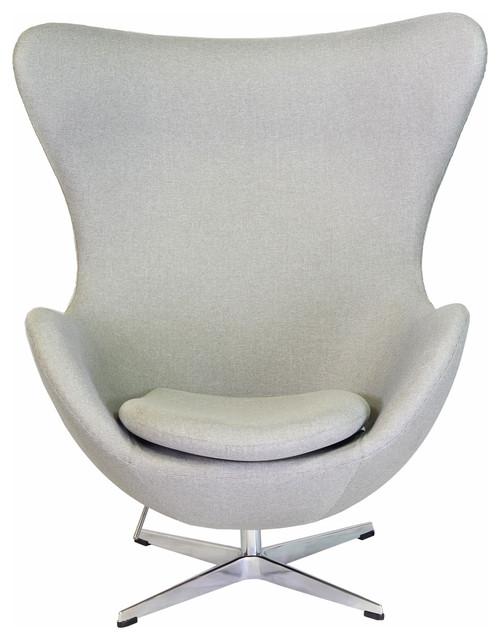 Bolero Lounge Chair Light Gray Midcentury Armchairs