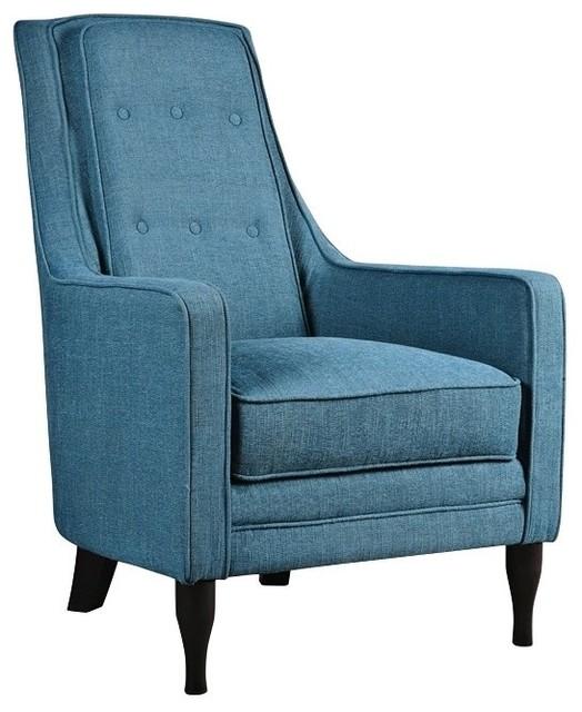 Katana Peacock Blue Armchair Contemporary Armchairs