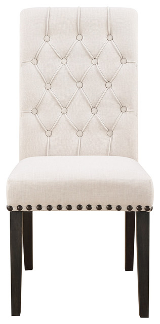 Coaster Furniture Weber Upholstered Dining Side Chair in Cream (Set of 2) 107286