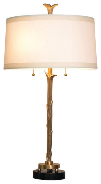 Luxe Elegant Leaf Branch Metal Table Lamp Gold Organic Minimalist